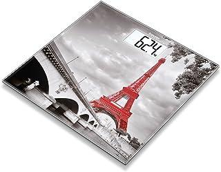 Beurer GS203 Paris - Báscula de baño de vidrio, ultra plana, foto París, 756.31