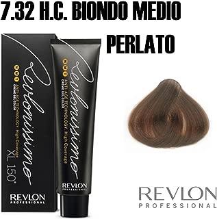 Revlon Revlonissimo High Coverage Matices, Tinte para el Cabello 732 Rubio Dorado Nacarado - 60 ml