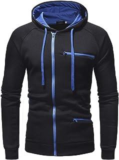 Men Jacket Men Jacket Spring and Autumn Fashion Trend Simple Leisure Sports Running Fitness Slim Comfortable Zipper Hoodie
