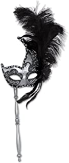 Beistle 54204 Feathered Mask with Stick
