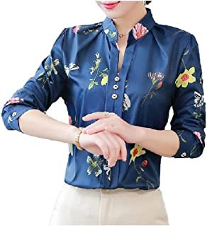 Doufine Womens Slim T Shirts Printing Casual Oversized Blouse Top