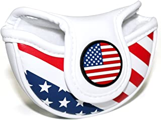 Craftsman Golf Stars and Stripes USA America Flag Mid Mallet Putter Cover Half-Mallet Headcover for Scotty Cameron Odyssey Taylormade Rossa Midsize Putter