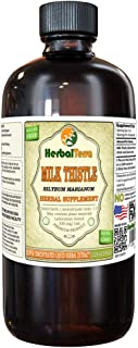 Milk Thistle (Silybum Marianum) Tincture, Organic Dried Seeds Liquid Extract (Brand Name: HerbalTerra, Proudly Made in USA) 32 fl.oz (0.95 l)