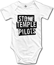 HYRONE Stone Temple Logo Pilots Baby Bodysuit Long Sleeve Climbing Clothes White