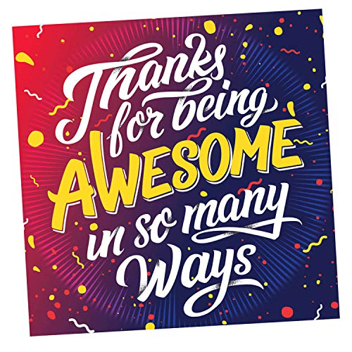 Thank You Appreciation Gifts Cards - Square 3.5' X 3.5 You Are Awesome Recognition, Encouragement and Kindness Notes for Employees, Teachers, Staff, Graduation, Friends, Co-Workers - Box of 100