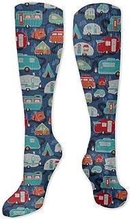 Colgante para caravana, unisex, calcetines, calcetines divertidos, calcetines divertidos, calcetines de algodón