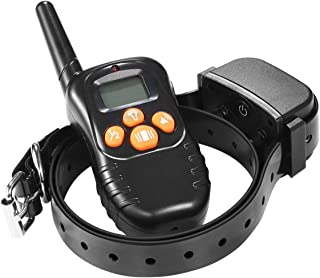 Dog Training Collar Remote Controlled Dog Barking Collar Anti Bark Device Waterproof