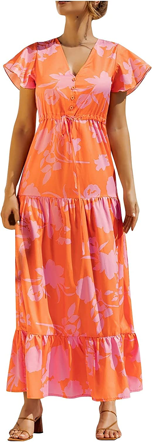 Maxi Dres Womens Casual Party Outstanding Cocktail Be V Summer Animer and price revision Neck Vacation