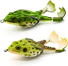 4pcs simulation frog bait 60mm fishing lures 2 colours with my hu2 1x