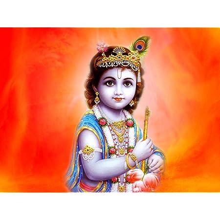 Amazon Com Wholesalesarong Lord Sri Krishna Baby Krishna Bal Krishna Paper Poster 14 X 20 Home Decor Accessories Posters Prints