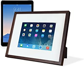 "iFrame (Espresso) – Turn Your iPad into a Beautiful Interactive Digital Picture Frame – Perfect at Home or Work - Includes Table Stand and Wall Mount for All 9.7"" iPads"