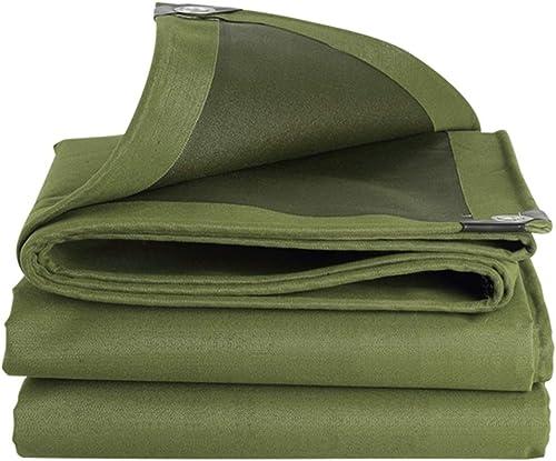 ZHANGGUOHUA Toile de Tente imperméable à l'eau de bache Lourde imperméable en Plein air de Camion d'extérieur en Toile imperméable à la Pluie (Couleur   vert, Taille   4  5m)