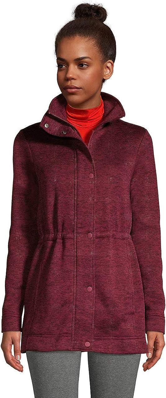 Lands' End Women's Sweater Fleece Coat