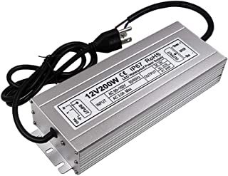 LED Power Supply 200W High-powerTransformer Waterproof IP67 12V DC Driver Adapter for Outdoor Use