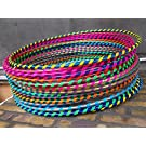 FB FunkyBuys® 10x Spiral Glitter Kids/Adults Small Large Hula Hoops DIA:60cm Sporting Good Fitness Hula Hoops