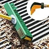 Renegade Heavy Duty 18 inch Outdoor Broom with Curved Bristles for Grabbing Dirt & a Telescoping Handle
