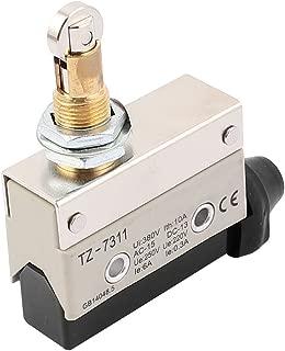 IIVVERR AC 380V 10A SPDT 1NO+1NC Snap Action Roller Plunger Limit Switch (AC 380V 10A SPDT 1NO + 1NC Interruptor de final de carrera de émbolo de rodillo de acción rápida