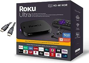 Roku Ultra Streaming Media Player 4K/HD/HDR Premium JBL Headphones w/Ghost Manta 4K HDMI Cable