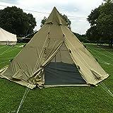 QEXAN Custom Norway Lavvo Teepee Tent 100% Waterproof Ripstop Fabric...