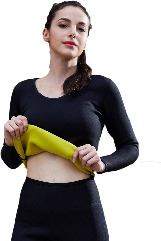 Bakerdani Hot Womens Thickened Fashionable Body Shaping Weight Loss Fat Burning Shaping Shirt with Long Sleeves