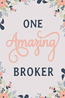 One Amazing Broker: Broker Notebook | Broker Journal | Broker Workbook | Broker Memories Journal
