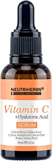 Neutriherbs Best Vitamin C Serum for Face 20% with Hyaluronic Acid - Natural Whitening & Anti Wrinkle Reducer Formula for Face 1 fl oz (Vitamin C Serum)