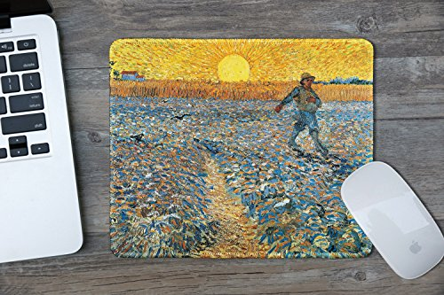 dealzEpic - Art Mousepad - Natural Rubber Mouse Pad with Famous Fine Art Painting of The Sower by Vincent Van Gogh - Stitched Edges - 9.5x7.9 inches Photo #5