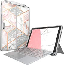 i-Blason Cosmo Case Designed for Microsoft Surface Pro 6 / Pro 5 / Pro 2017 / Pro 4 / Pro LTE, Slim Glitter Protective Bumper Case Cover with Pencil Holder Compatible with Type Cover Keyboard (Marble)