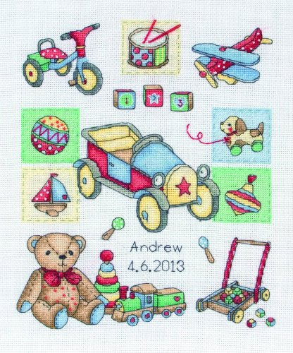 Anchor SS13 - Kit de Punto de Cruz, diseño de Juguetes Infantiles