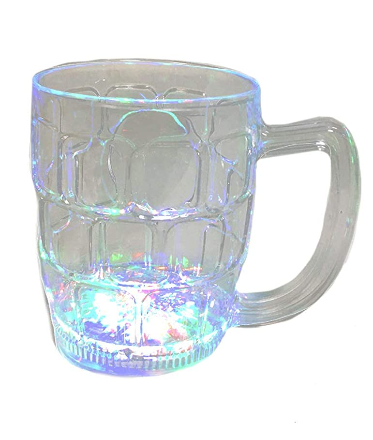 美しい介入する入植者LED Flashing Beer Mug - 470ml
