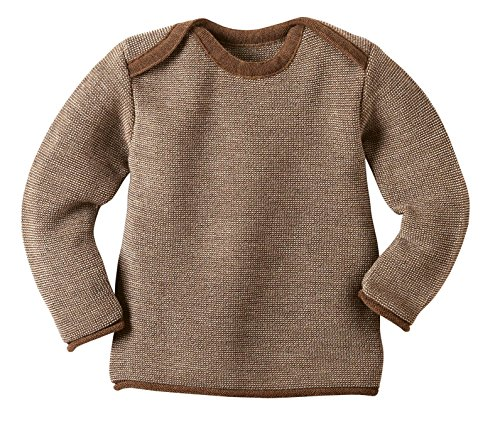 Disana 31305XX - Melange-Pullover Wolle haselnuß, Size / Größe:50/56 (0-3 Monate)