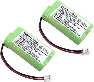 増量使用時間1.25倍 2個セット Pioneer パイオニア TF-BT07 FEX1048 FEX1049 電話機 コードレスホン 子機 充電池 互換 【ロワジャパン】