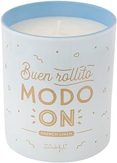 Mr. Wonderful Vela Buen rollito Modo ON, Cera, Multicolor, 16.600000000000001x8x17.5 cm