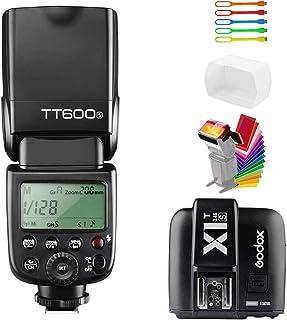 كاميرا فلاش Speedlite GN600S من Godox TT600S مزامنة عالية السرعة 1/8000s 2.4G لاسلكي X-System Master Slave Off Light مع جه...