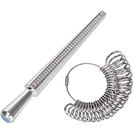 YTTX - Set di misurazione per anelli, misura standard UK, UE, USA e Svizzera