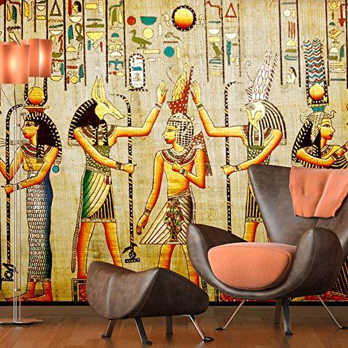 Behang Non-Woven muurschilderingen Muurschildering Foto Oude Egyptische Farao 3D Modern Home Slaapkamer Decoratie 450x300cm