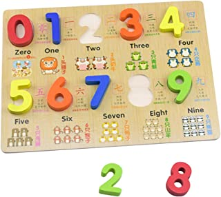 HSOMiD Kids Early Education Number Block Board Chunky Puzzles