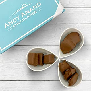 Andy Anand Sugar Free Chocolate Patty Bridge of Pecan, Cashew & Mint Gift Boxed & Greeting Card, Delicious, Succulent & Divine Birthday Valentine Christmas Holiday Anniversary (1 LBS)