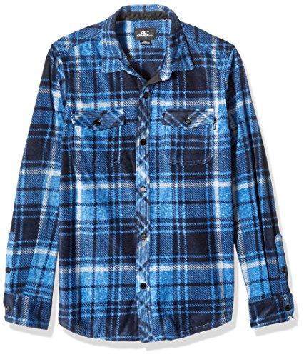 O'Neill Jungen Glacier Plaid Long Sleeve Woven Hemd, dunkelblau, Mittel