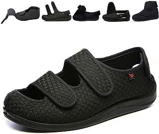 JINBEILE Homme Femme Ajustable Scratch Ultra-Large Chaussures Chaussons Diabétique Hydropisie Obésité Vieillard Botte Larg...