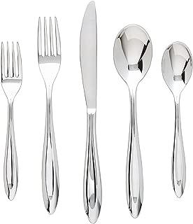 Ginkgo International Fontur 42-Piece Stainless Steel Flatware Place Setting, Service for 8 Plus 2-Piece Hostess Set