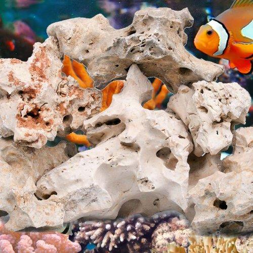 Aquarium natürliches Lochgestein, 18-30 cm, 25 Kg