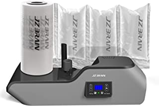 JZBRAIN Air Cushion Machine Air Pillow Maker Pillow Making Machine Air Bags Packing Machine Heating Up in 2 Minutes Air Cushion Speed 6.0 to 7.2 m/mim 100m Trial Run Film Roll Included (Black)