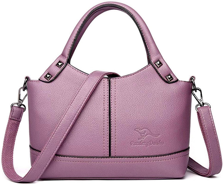 YangMi Handtasche- PU-Beutelhülse PU-Beutelhülse PU-Beutelhülse 2019 neues einfaches Handtasche-Schulter-Diagonalpaket der großen Kapazität (Farbe   lila, größe   8x15x24cm) B07PH4CDPT  Online-Exportgeschäft e0398d