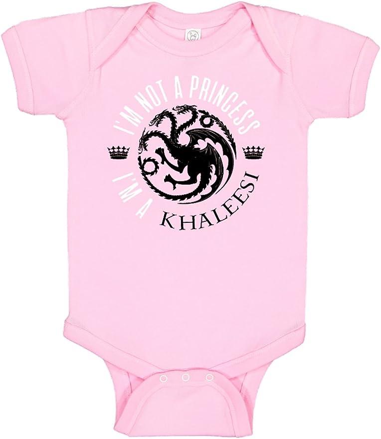 Little Khaleesi I/'m Not a Princess I/'m A Khaleesi funny GOT parody Bodysuit Baby shower gift surprise pregnancy announcement youth shirt