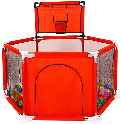 Parc de bébé Jeux d'intérieur pour Enfants Ramper Toddler Sécurité Aire de Jeux Prougeection de la Porte Jeter Basketball Piscine Aire de Jeux intérieure de Prougeection