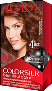Revlon Colorsilk Beautiful Color 46 Medium Golden Chestnut Brown (Value Pack of 6)