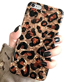 J.west iPhone 6s & iPhone 6 Case, Luxury Sparkle Bling Translucent Leopard Print Soft Silicone Phone Case Cover for Girls Women Flex Slim Design Pattern Drop Protective Case for iPhone 6s/6 4.7 inch