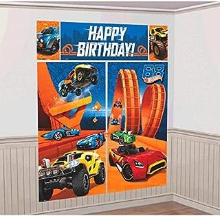Hot Wheels Wild Racer Scene Setters Wall Decorating Kit, Birthday