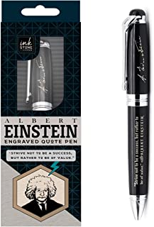 Albert Einstein Inspirational Quote Pen - Strive Not to Be a Success, but Rather to be of Value - Motivational Business Gifts for Students Teachers Nerds Scientists Graduates Professional Men Women